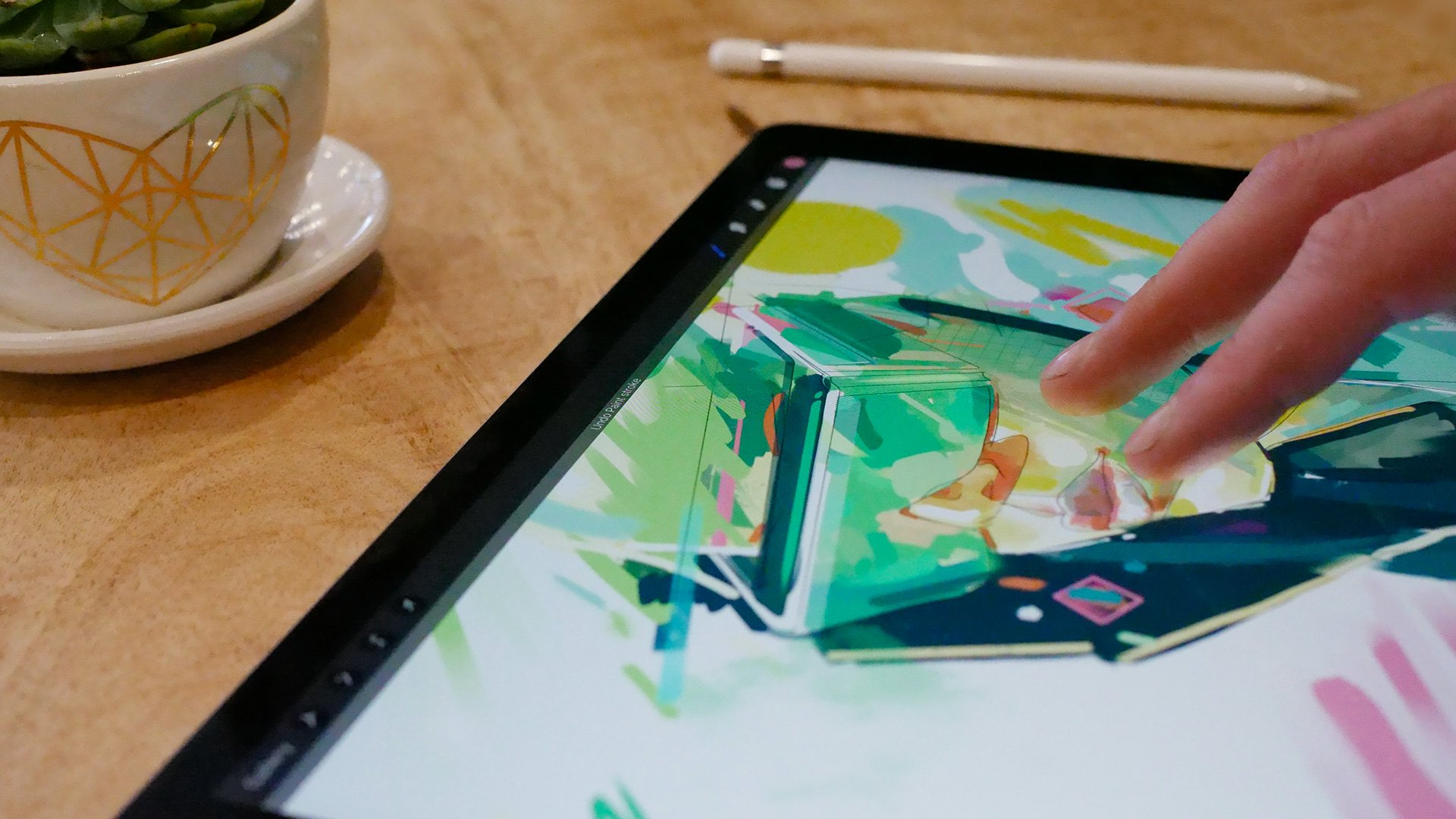 Two-finger tap to Undo has become one of Procreate's most instinctive and essential gestures.