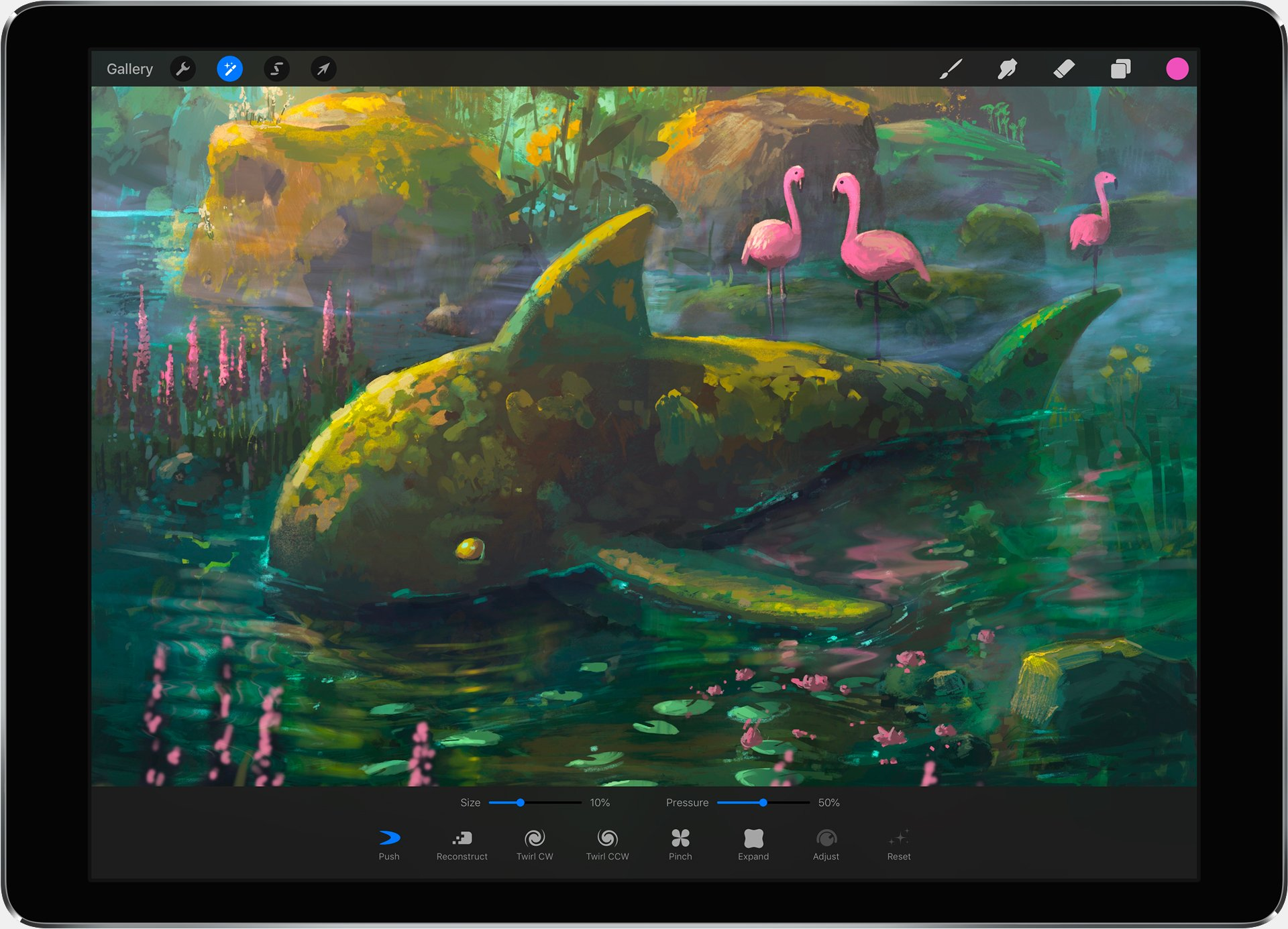 Procreate 4 1: Liquify, Symmetry, Warp, and more
