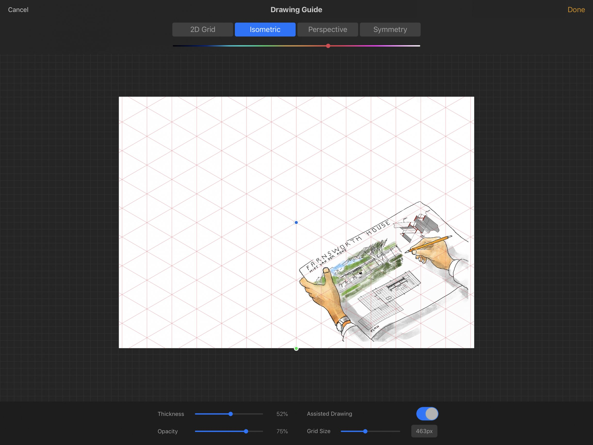 How to use 2D Grid, Isometric, and Perspective Drawing Guides