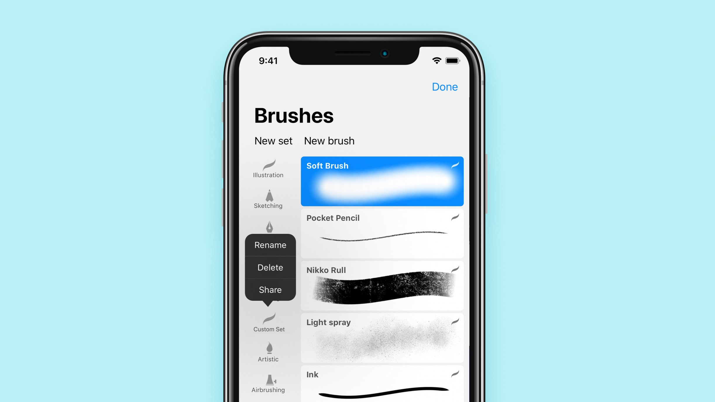 How to Import and Export Brush Sets in Procreate Pocket 2