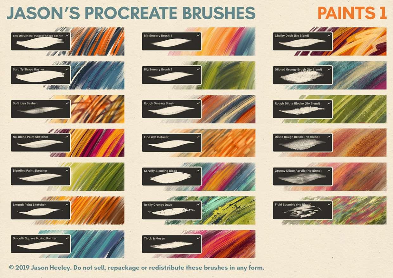 Jason's Procreate Brushes